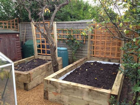 Railway Sleeper Bed by Ross S Raised Vegetable Beds With New Pine Railway Sleepers