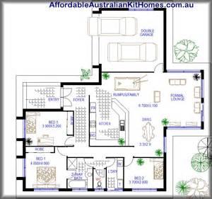 Simple Affordable House Plans by Australian Kit Hme Numbat 206 3 Bedroom Australian Kit