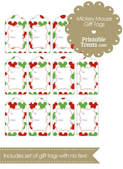 printable minnie mouse christmas gift tags mickey mouse christmas gift tags printable treats com