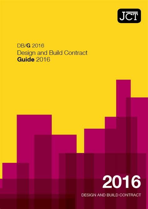 jct design and build contract clauses guides the joint contracts tribunal