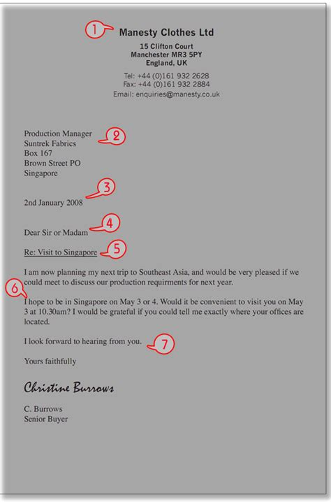 Parts Of A Business Letter Letterhead 1 this is the letterhead it can go on the left right