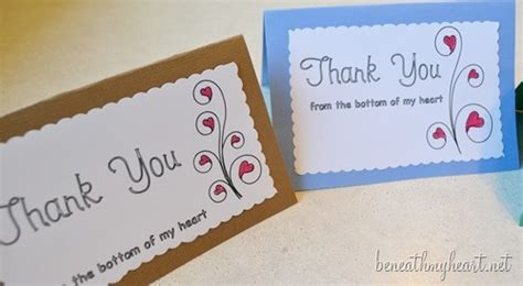Can You Use A Next Gift Card Online - diy thank you cards with sketch pens beneath my heart