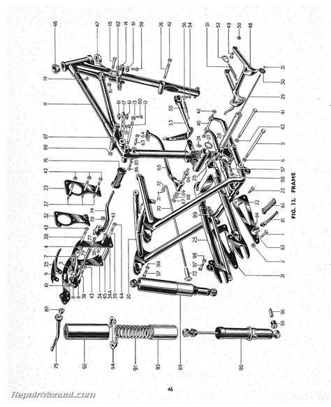triumph replacement parts manual 1955 speed