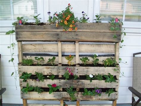 pallet garden container pallet planter we made up cycled pallet used as a