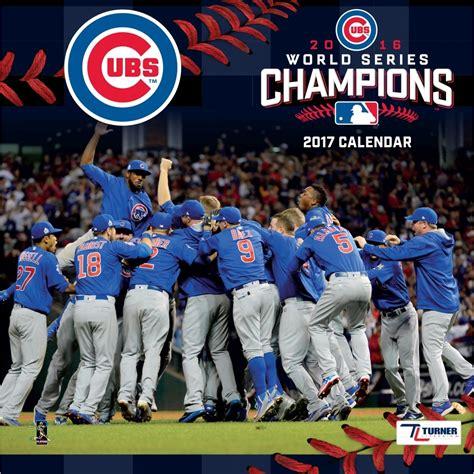 Calendã Series 2017 Chicago Cubs World Series 2017 Wall Calendar