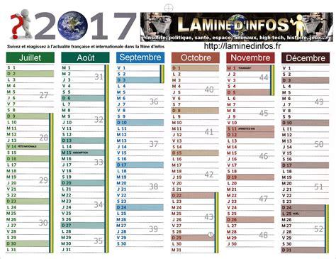 Calendrier Octobre Et Novembre 2017 Calendrier 2017 La Mine D Infos
