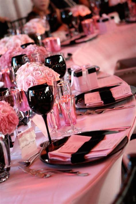 Pink & Black tablescape   [Inspiration] Colors   Pinterest