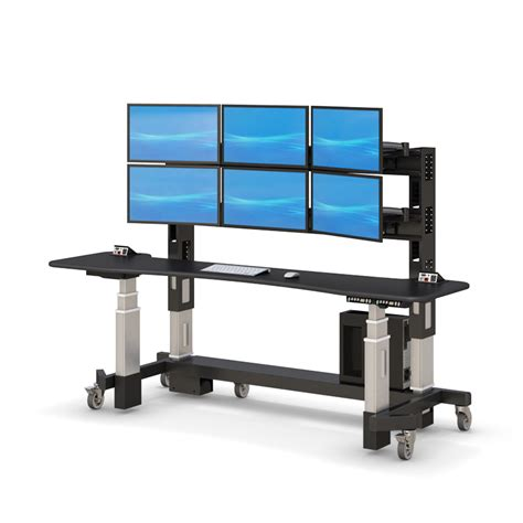 Adjustable Sit Stand Up Security Desk Afcindustries Com Adjustable Stand Up Desks