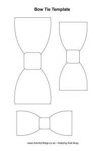 bow tie template printable bow tie template activities