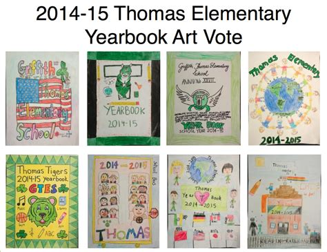 chalkboard school yearbook covers elementary school thomas elementary art yearbook cover vote at thomas