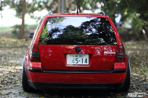 stanced volkswagen golf stanced volkswagen golf variant mk4 rear