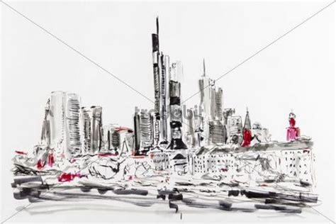 künstler frankfurt skyline frankfurt zeichnung k 252 nstler gerhard kraus