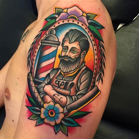 traditional shoulder tattoo traditional lighthouse on arm by samuele briganti