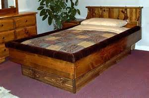 Waterbed Bed Frame Classic Pine Bookshelf Waterbed Frame Northern Sleep
