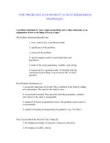 Statement Of The Problem For Thesis Problem Statement Example Images