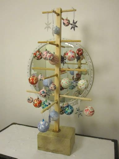 how to display christmas ornaments at fair project one hundred and eleven a market stall display tree the project so resourceful