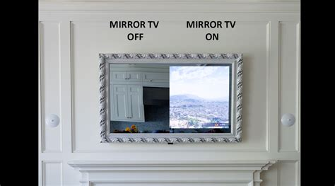 putting a tv in the bathroom framed vanishing mirror tv lumidesign