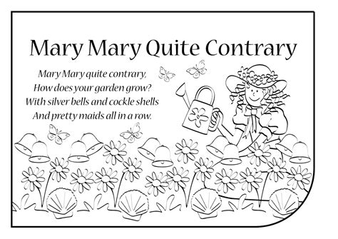 images of christmas mary mary quite contrary english songs and rhymes lyrics