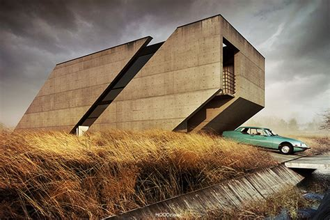 home designs and architecture concepts brutalist house concept design by adam spychała