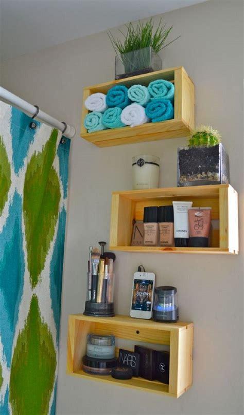 Bathroom Shelving Ideas For Towels Muebles Reciclados Hechos Con Cajas De Frutas
