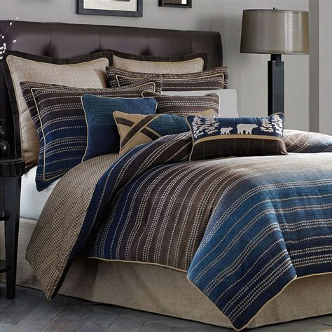 striped comforters clairmont striped comforter bedding by croscill