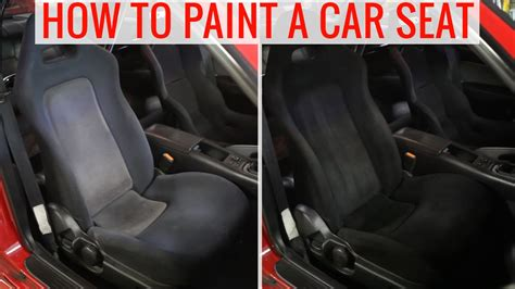 diy painting car seats  change  color   tips