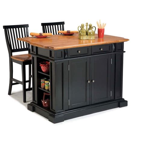 black kitchen island with stools outdoor
