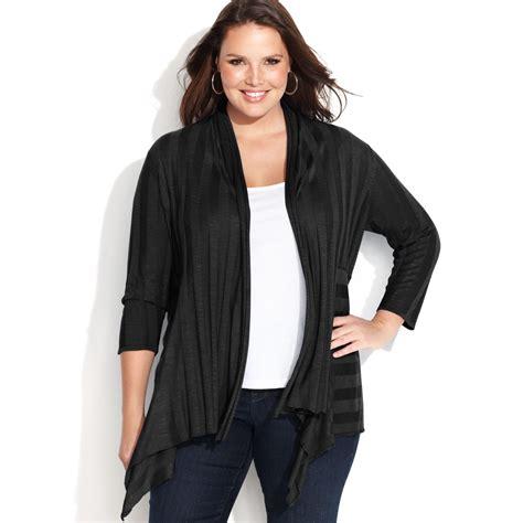 plus size draped cardigan inc international concepts plus size draped illusionstripe