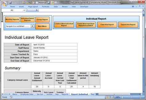 Annual Leave Card Template by Anual Leave Planner Template Manage Staff Leave With This