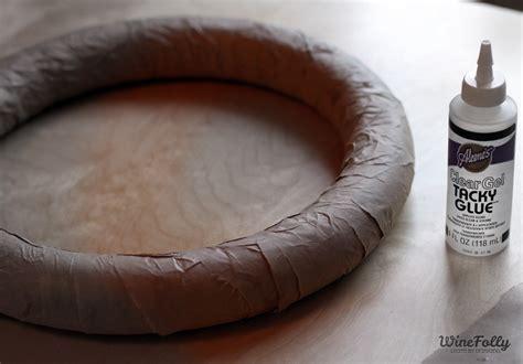 how to make a wreath base how to make a wreath out of wine corks wine folly