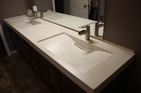 cement bathroom sink concrete double mirage sinks contemporary bathroom