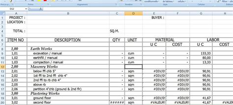 Cost Sheet Format In Excel Aiyin Template Source Excel Estimate Sheet Template