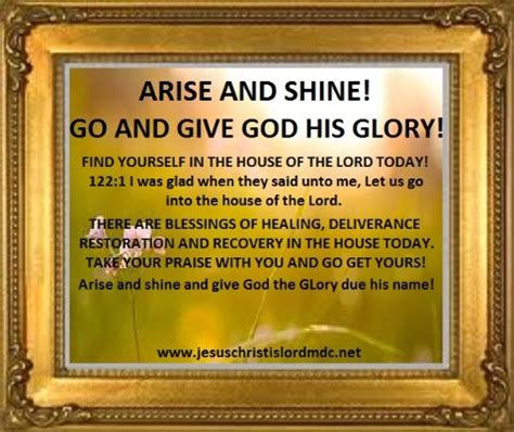 on god his home and his books www jesuschristislordmdc net arise shine give god