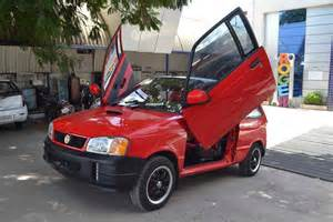 Maruti Suzuki Eeco Modified This Modified Maruti 800 Gets Scissor Doors And Tons Of
