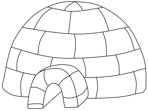 Igloo Coloring Pages 10 An For Coloring