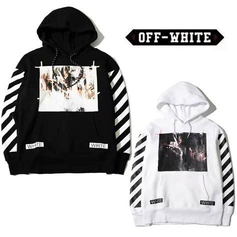 aliexpress off white off white c o virgil abloh religion stripe hoodies kanye