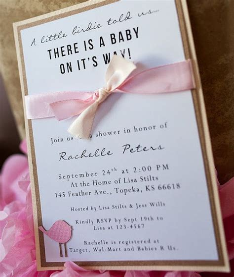 Baby Shower Handmade Invitations - handmade bird baby shower invitations 2 25 via etsy