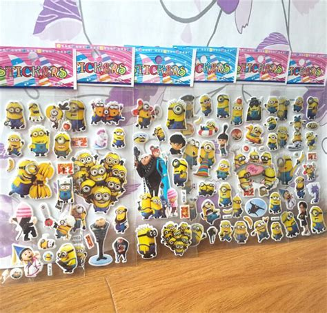 Walsticker 3d Pohon despicable me stickers 3d wall sticker home decals children toys book stickers