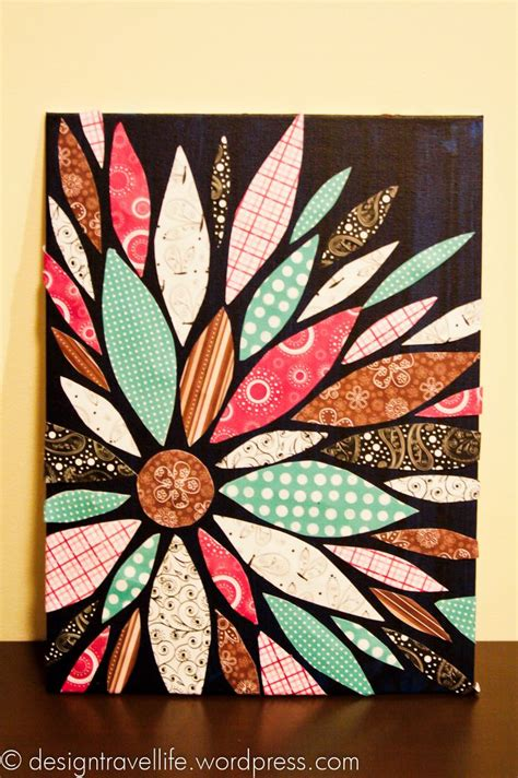 canvas craft projects best 25 scrapbook paper canvas ideas on