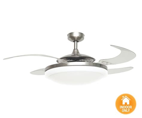 fanaway evo2 endure brushed chrome ceiling fan with