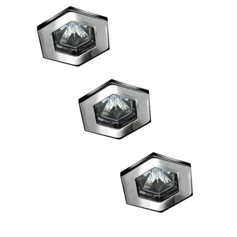 Halogen Einbauleuchten by 3er Set Halogen Einbauleuchten Hexagonal In Chrom