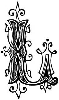 l designer l ornamental letter clipart etc