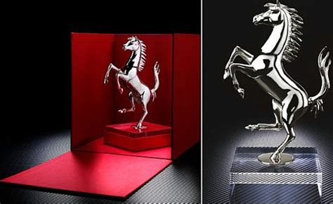 ferrari offers limited edition prancing horse sculpture autoguidecom news