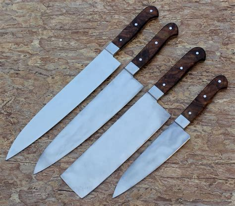Handmade Carbon Steel Knives - custom handmade knife carbon steel chef knives set