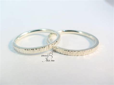 Verlobungsringe Silber Paar by Paar Trauringe Baumrinde Schmal Traumschmuckwerkstatt Shop