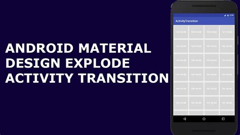 android transition android material design explode transition