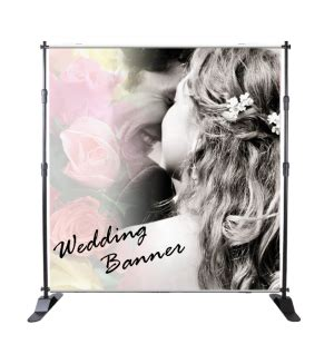 Wedding Banner Stand by Wedding Signs Custom Printed Fabric Wedding Event Banner