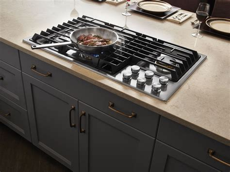 stainless steel cooktops jgd3536gs jenn air 36 quot gas downdraft cooktop stainless