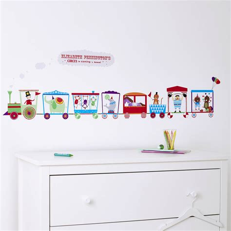childrens personalised wall stickers personalised children s circus wall sticker by