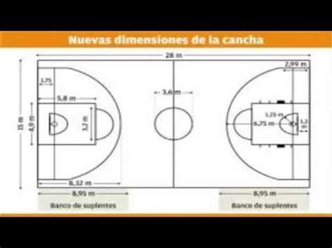cuanto cuanto mide la cancha de basquetbol medidas de una cancha de basquet youtube